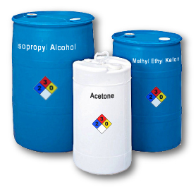 Isopropyl Alcohol, Methel Ethyl Ketone and Acetone. Chemicals and Solvents Supplier