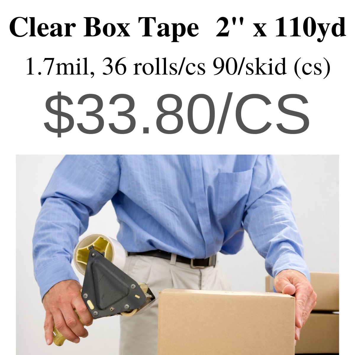 Clear box tape, special