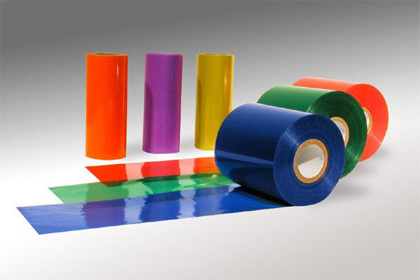 Assortment of barcode printer film ribbon