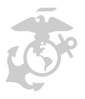 Marine corps logo in gray