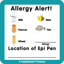 Helpsticker - allergy alert child sticker