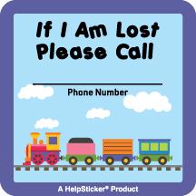Helpsticker - lost child sticker - train